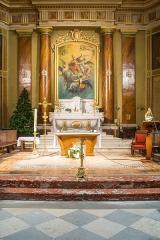 Eglise - English:  Chancel in the Saint Blaise church in Seysses, Haute-Garonne, France