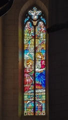 Eglise de la Dalbade - English:   Church of Notre-Dame de la Dalbade in  Toulouse - Stained Glass of the Annunciation