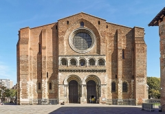 Eglise Saint-Sernin - English:   Basilica of St. Sernin, Toulouse, Facade.