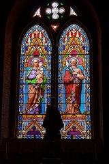 Eglise -  First lancet: Joseph putative father of Jesus; second lancet: Saint Joseph.