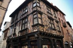Maison Enjalbert - Français:   Maison Enjalbert à Albi: maison à pans de bois (appelé corondage dans la région) du XVIème siècle de style Renaissance.