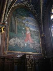 Cathédrale Saint-Etienne -  Cathédrale Saint-Étienne de Bourges (Cher, France), fresque d'une chapelle latérale