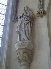 Château et ses abords -  Sainte chapelle du château de Châteaudun (Eure-et-Loir, France): Marie Madeleine