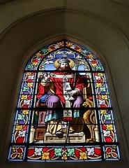 Eglise Saint-Etienne - Français:   Intérieur de l\'église Saint-Étienne de Janville (28). Vitrail de Saint-Éloi.