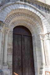 Eglise Notre-Dame - Français:   Église Notre-Dame de Châtillon-sur-Indre: porche sud.