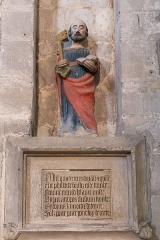 Eglise Notre-Dame - Français:   Église Notre-Dame de Châtillon-sur-Indre: statue de saint Pierre.