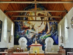 Eglise Saint-Barthélémy - Deutsch:  Chor der Kirche St. Bartholomäus, Orchaise, Département Loir-et-Cher, Region Zentrum-Loiretal, Frankreich