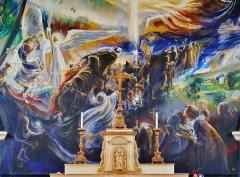 Eglise Saint-Barthélémy - Deutsch:  Chorbild der Kirche St. Bartholomäus, Orchaise, Département Loir-et-Cher, Region Zentrum-Loiretal, Frankreich
