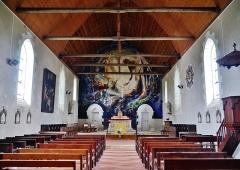 Eglise Saint-Barthélémy - Deutsch:  Langhaus der Kirche St. Bartholomäus, Orchaise, Département Loir-et-Cher, Region Zentrum-Loiretal, Frankreich