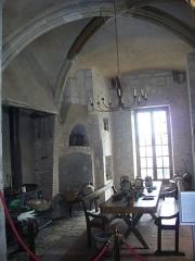 Château -  Château de Meung-sur-Loire (Loiret, France), cuisine au rez-de-chaussée