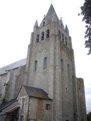 Eglise Saint-Liphard - Français:   Collégiale Saint-Liphard de Meung-sur-Loire (Loiret, France), vue depuis le parc du château