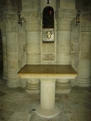 Eglise abbatiale Saint-Benoît -  Église abbatiale Saint-Benoît de Saint-Benoît-sur-Loire (Loiret, France): crypte
