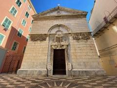 Eglise de la Conception - Corsu:   L\'oratoriu di A Cucezziò, in u quartieru di Terra Vechja, in Bastia.