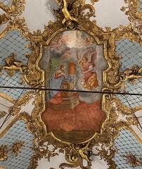 Eglise Sainte-Croix - Corsu:  Pittura nant'à a volta di l'oratoriu Santa Croce, opera di u pittore bastiacciu Saverio Farinole (1758), Bastia, Corsica