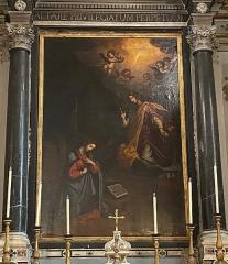 Eglise Sainte-Croix - Corsu:  Guatru chì si trova in l'oratoriu Santa Croce, in Bastia (Corsica)