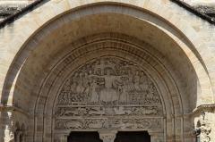 Ancienne abbaye - Français:   Abbatiale Saint-Pierre de Beaulieu-sur-Dordogne; Tympan du portail méridional