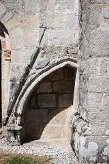 Eglise Saint-Maurice, et croix du cimetière - Deutsch:  Detail am südlichen Langhaus, Kirche Saint-Maurice et croix du cimetière (Darnets)