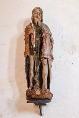 Eglise Saint-Maurice, et croix du cimetière - Deutsch:  Statue St. Johannes der Täufer, 15/16. Jh. (?), Kirche Saint-Maurice et croix du cimetière (Darnets)