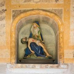 Eglise Saint-Barthélémy - Deutsch:  Pietà  in der Kapelle Notre-Dame in Liginiac