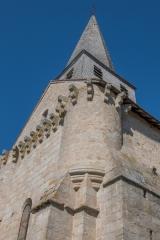 Eglise de l'Assomption de la Vierge - Français:   échauguette et mâchicoulis de la façade