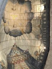 Eglise Saint-Martin - Français:   Charpente lambrissée peinte de l\'un des vaisseaux de l\'église Saint-Martin de Veules-les-Roses (Seine-Maritime, Normandie, France).