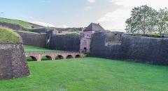 Château, actuellement musée d'Art et d'Histoire, et enceinte urbaine - English:   City walls of Belfort, Territoire de Belfort, France