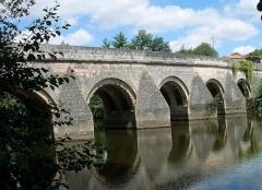 Pont du Vernay - Français:   Pont de Vernay à Airvault: travées au-dessus du Thouet