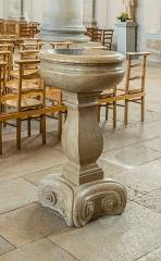 Eglise Saint-Symphorien - English:  Stoup in the Saint Symphorian church in Gy, Haute-Saône, France
