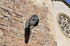 Eglise paroissiale Saint-Martin - Français:   Horloge sur la façade de l\'église Saint-Martin à Limoux.