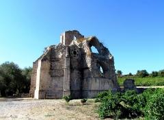 Ruines de l'ancienne église Notre-Dame-des-Oubiels - English:  The chapel of Notre-Dame-des-Oubiels, in the region of Corbières, Southern France
