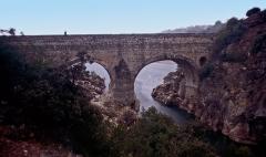Pont sur l'Hérault, dit Pont du Diable (également sur commune de Saint-Jean-de-Fos) - Deutsch:  Pont du Diable