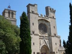 Ancienne cathédrale Saint-Nazaire et cloître Saint-Nazaire - Català:  Vista general de la façana de l'antiga catedral de Sant Nazari (Besiers)