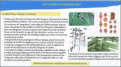 Villa gallo-romaine - Français:   Lespignan (Occitanie, Hérault): villa gallo-romaine de Vivios, plan, description. Panneau Idan; projet.