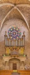 Ancienne cathédrale, actuelle église paroissiale Saint-Fulcran - English:   Organ of the Saint Fulcran cathedral of Lodève, Hérault, France