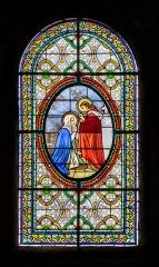Eglise Saint-Martin - English:  Stained-glass window in the Saint Martin collegiate church in La Canourgue, Lozère, France