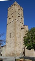 Eglise Notre-Dame del Prat - Català:  Campanar de l'església parroquial de Santa Maria del Prat, d'Argelers de la Marenda