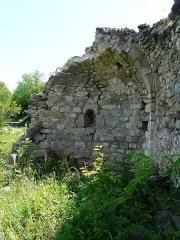 Vestiges de l'ancienne église Saint-Pierre - Català:  Interior de l'absis de Sant Pere de Fillols