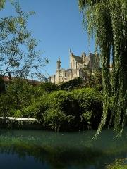 Château baronial ou des Evêques de Poitiers - Français:   Le Château des évêques de Poitiers (partie à gauche de l\'ensemble), date du XI e siècle