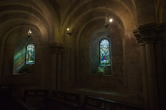 Cathédrale Notre-Dame - English:  Stained-glass windows in the crypt of the Cathédrale Notre-Dame de Verdun.