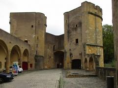 Vestiges de l'enceinte du Moyen-Age - Deutsch:  Porte des Allemands (Deutsches Tor) in Metz, 13.-16.Jh.