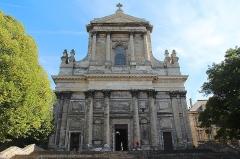 Cathédrale Notre-Dame et Saint-Vaast -  Façade de la cathédrale Notre-Dame-et-Saint-Vaast d'Arras à  Arras (Nord-Pas-de-Calais, France).