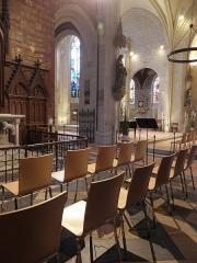 Eglise des Minimes -  Chapelle Notre-Dame-de-l'Immaculée-Conception de Nantes (44). Vue traversante depuis le collatéral nord.