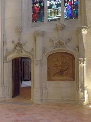 Eglise des Minimes -  Chapelle Notre-Dame-de-l'Immaculée-Conception de Nantes (44). Porte de la sacristie et armoire eucharistique.