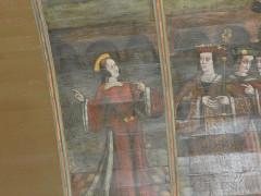 Eglise Saint-Martin - English:  painted ceiling