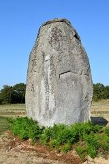 Menhirs - Français:   Menhir de la Garnerie, Avrillé (85).