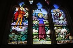Eglise - Français:   Église Saint-Jean-Baptiste de Manerbe vitrail