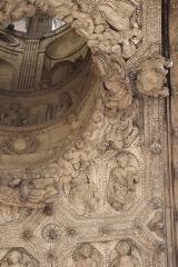 Eglise Saint-Michel -  Voussures du portail central de la façade occidentale de l'église Saint-Michel de Dijon (21).