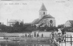 Eglise de la Nativité - Français:   Carte postale ancienne montrant l\'église de Mirebeau-sur-Bèze vers 1911