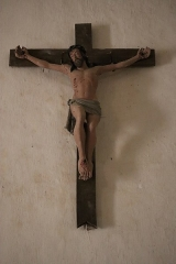 Eglise Saint-Martin - Français:   Intérieur de l\'église Saint-Martin de La Motte-Ternant (21). Crucifix.