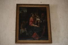 Eglise Saint-Martin - Français:   Intérieur de l\'église Saint-Martin de La Motte-Ternant (21). Tableau. La Sainte-Famille.